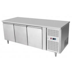 Tavolo frigorifero 3 porte Atosa modello   EPF3432: dimensioni 179.5 x 70 x 85h cm, capacità 420 l.