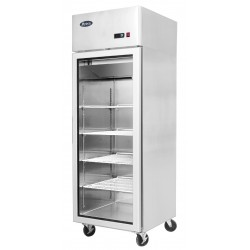 Freezer Atosa con Display e Porta a Vetro modello YCF9407: dimensioni 60 x 74 x 195h cm, capacità 450 l.