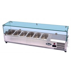 Vetrina refrigerata Atosa, con vetro, per banco pizza VRX ESL3884: dimensioni 150 x 39.5 x 43.5h cm, VRX 1500/380.