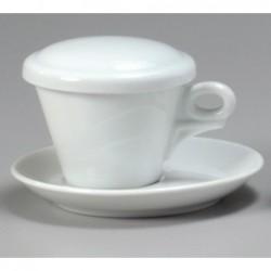 COPERCHIO PER TAZZA CAPPUCCINO - BIANCO 27980 ANCAP- porcellana Medri - Teomar Shop