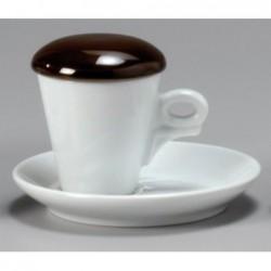 COPERCHIO PER TAZZA CAFFE - MARRONE 27481 ANCAP E- porcellana Medri - Teomar Shop