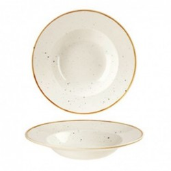 PASTA BOWL TONDO 28 SWHSVWBL1 WHITE STONECAST - porcellana Churchill Medri - Teomar Shop