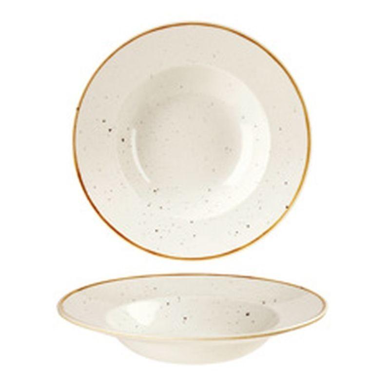 PASTA BOWL TONDO 28 SWHSVWBL1 WHITE STONECAST - porcellana Churchill Medri - Teomar Shop