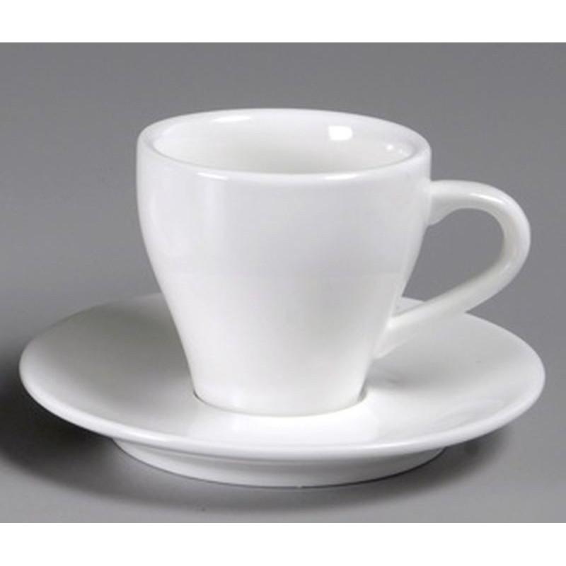 PIATTO PER TAZZA CAFFE' PERA CM 12 6475 CHAOZHOU - porcellana Medri - Teomar Shop