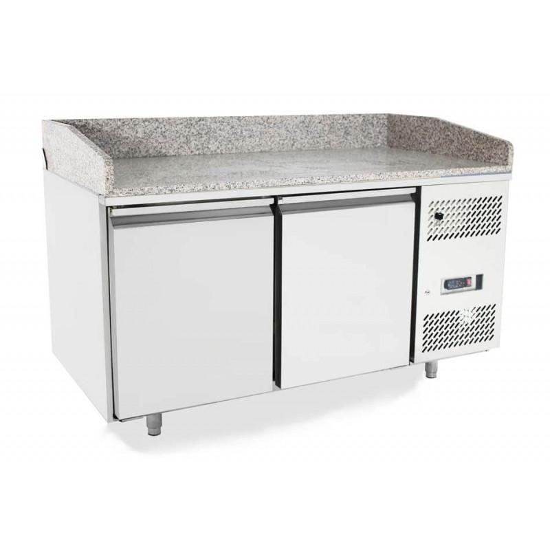 Banco Frigo Pizza 2 porte EPF3495 dimensioni 151 x 80 x 100h cm, capacità 390 l per griglie 60 x 40 cm (griglie non incluse).