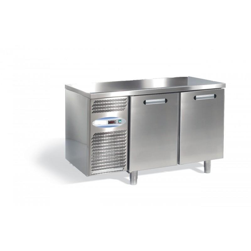 Banco Frigo 2 porte ventilato 66130010 Gastronorm: dimensioni 126x70x85h cm, potenza 305W/1,45A, capacità 168 l.