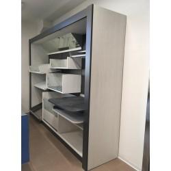 Espositore pane e alimenti L 320 x P 88 x H 236 cm.