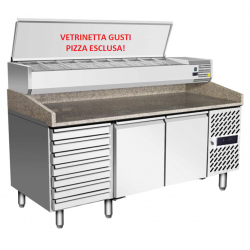 Banco Frigo Pizza 2 porte 7...