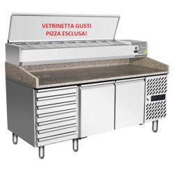 Banco Frigo Pizza 2 porte 7...