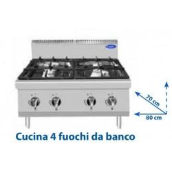Cucina 4 fuochi da banco...