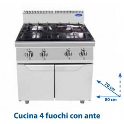 Cucina 4 fuochi TM7G4B-F-2