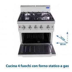 Cucina 4 fuochi con forno...